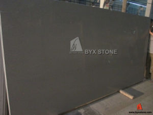 Dark Grey Quartz Slab with Mirror for Hotel Countertop Project pictures & photos