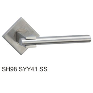 Stainless Steel Hollow Tube Lever Door Handle (SH98SYY41 SS) pictures & photos