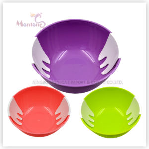 BPA Free 22.5*10cm Plastic Salad Bowl pictures & photos