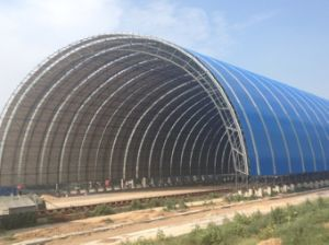 Light Steel Bolted Ball Space Frame Barrel Coal Storage pictures & photos