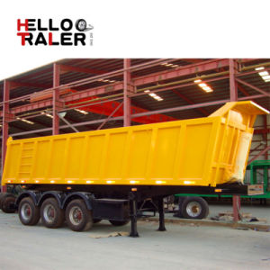3 Axle U Shape Dump Semi Trailer Tipper Semi Trailer pictures & photos