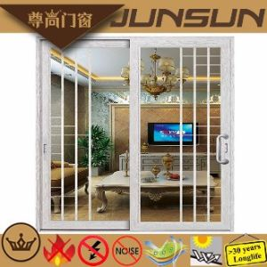 1.0mm~2.0mm Aluminium Hanging Door with Tempered Glass pictures & photos