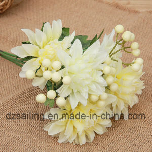 Artificial Flower of Dahlia Bouquet Used for Decoration (SF14149) pictures & photos