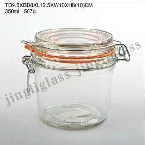 350 Ml Clip Cap Glass Jar / Air Tight Storage Jar pictures & photos