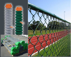 Playground Fence PVC Coated Chain Link Fence Wire Mesh pictures & photos