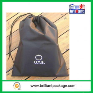 Promotional Black Polyester Drawstring Bag pictures & photos
