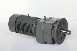 R Series Transmission Gear Helical Gear Gearbox with Motor Aluminum Alloy pictures & photos