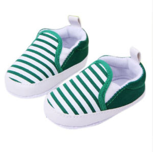 Baby Soft Bottom Walking Shoes Striped Anti-Slip Sneakers with (AKBS8) pictures & photos