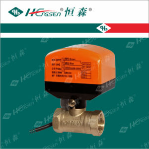 D Q F-C2 Brass Motorized Ball Valve pictures & photos