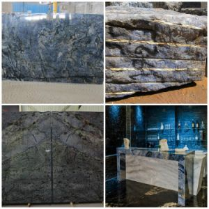 Azul Brazil Blue Bahia Granite Slab for Top Hotel Decoration pictures & photos