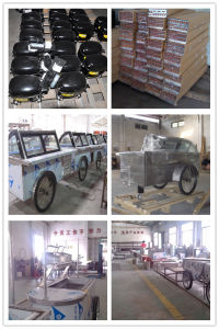 Italian Ice Cream Gelato Popsicle Display Freezers Carts for Sales pictures & photos