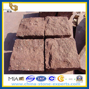 Nartural Surface Red Porphyry Cube Paving Stone (YQZ-PS) pictures & photos