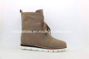 Casual Fashion Winter Women Snow Boots with Warm Fur pictures & photos