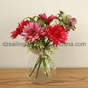 High Quality Gerbera Bouquet Artificial Flower for Decoration (SF15472A) pictures & photos