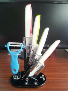 6PCS Ceramic Kitchen Knife Set pictures & photos
