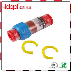 Gas Block Connector (yellow) , Duct Fiber Optic Cable Sealing Connectors 8/6mm pictures & photos