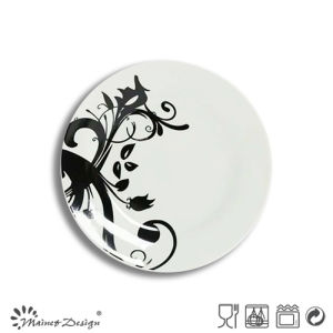 Popular White Porcelain with Full Decal Salad Plate pictures & photos