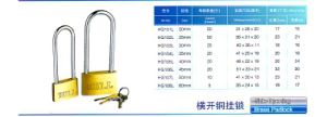 Hg101L Thin Type Brass Padlock with Long Shackle pictures & photos