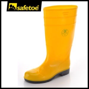 High Quality Shining PVC Knee High Rain Boots W-6039 pictures & photos