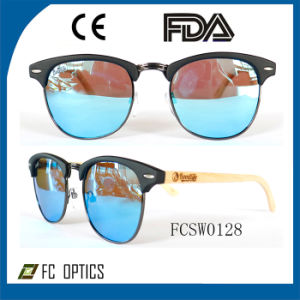 2015 New Half Frame Wooden Sunglasses with Cunstom Brand pictures & photos