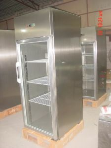 Glass Door Stainless Steel Refrigerator and Freezer pictures & photos