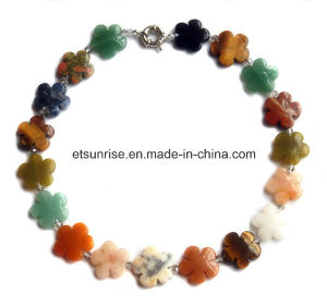 Semi Precious Stone Crystal Beaded Jewelry Necklace Sets (ESB01356) pictures & photos