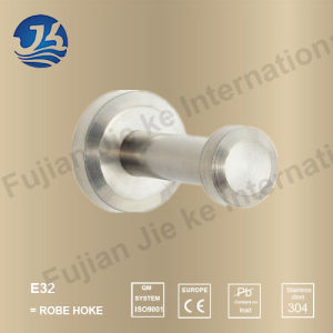 Hot Sell 304 Solid Casting Stainless Steel Bathroom Robe Hanger (E33)