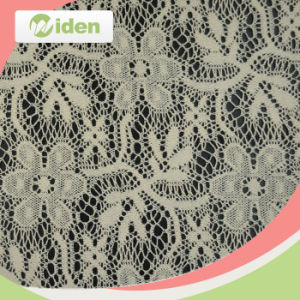 150cm Customer′s Design Welcomed Swiss White Tulle Lace Fabric pictures & photos