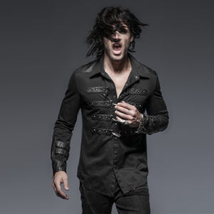 Y-634 Black Rock Metallic Slim Man Shirt with a Colloar pictures & photos