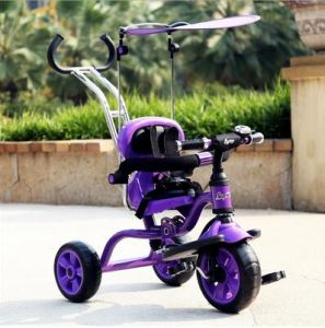 Factory Hot Supply Kids Tricycle Foldable in Purple pictures & photos