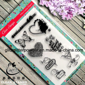 Good Quality Clear Stamps with Musicnote Butterfly Heart Shape