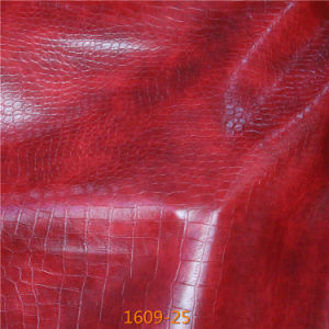 Wholesale Bulk Top Quality Classic Crocodile Suede PU Leather pictures & photos