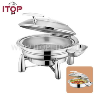 High Quality Restaurant Newly Round Chafing Dish (T36120) pictures & photos