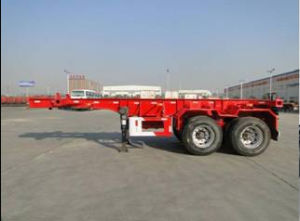 20 FT 2 Axles Skeletal Container Semi Trailer