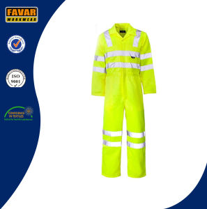 Orange Safety Waterproof 300d Oxford High Visibility Rain Coverall pictures & photos