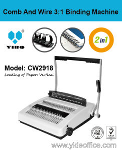 A4 Size Comb and Wire 3: 1 2-in-1 Binding Machine (CW2918) pictures & photos