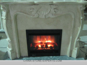 Hand Carved Natural Antique Blue Stone Limestone Fireplace (YQG-F1004) pictures & photos