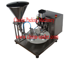 Semi Automatic Rotary Cup Sealing Machine pictures & photos