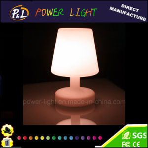Color Changing Rechargeable PE Plastic LED Table Lamp pictures & photos