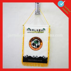 Custom Satin Trianlge Souvenir Club Exchange Flag pictures & photos