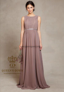 Queen′s Gown Factory Women′s Sleeveless Long Evening Formal Dress pictures & photos