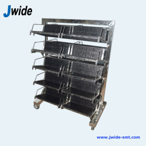 ESD Plastic Plate PCB Trolley Cart for Turnkey Solution Factory pictures & photos