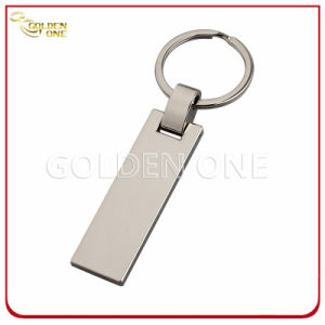 Custom Style Hot Stamped Brown PU Leather Key Tag pictures & photos