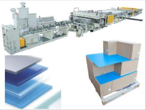 PP Material PP Corrugated Sheet Making Machine pictures & photos