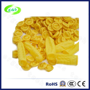 Yellow ESD Non Dust Latex Finger Cots Without Powder (EGS-27) pictures & photos