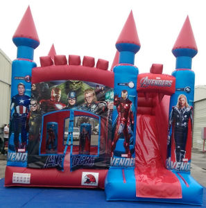 2016 4.5X5m Inflatable Bouncer Slide Combo Avengers Castle for Sale Overseas pictures & photos