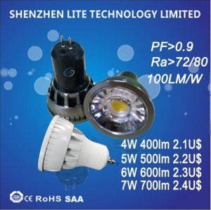 GU10 MR16 4W 5W 6W 7W COB LED Spot Light pictures & photos