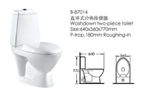 Bathroom Furniture Two-Pieces Toilet (87014) pictures & photos