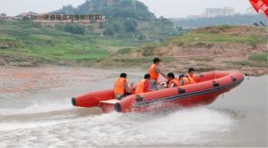 6 Meters Fiberglass Rescure Boat with Rib Rail pictures & photos