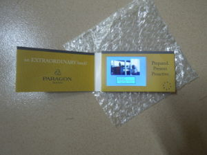 Video Business Cards 2.4 Inch LCD 320 * 240 128MB pictures & photos
